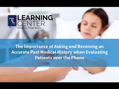 Importance of Asking and Receiving an Accurate Past Medical History