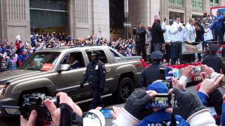 David Diehl & Baas NEW YORK GIANTS SUPER BOWL PARADE