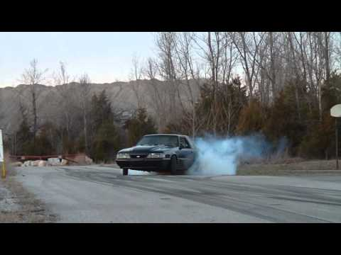 Robs Supercharged Mustang Burnout leaving Gread Tuning