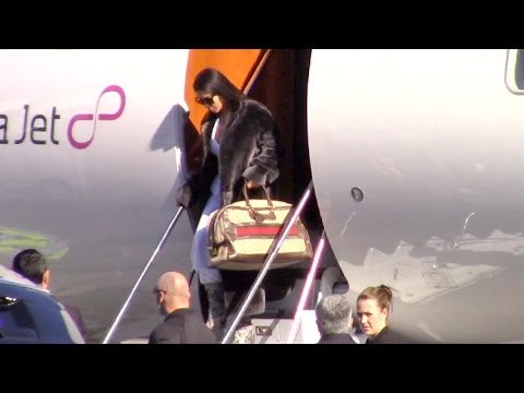 Kim Kardashian Arrives Home On Private Jet After Busy Week In Dubai