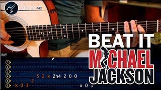 """Cómo tocar """"Beat It"""" de Michael Jackson en guitarra Acústica PRINCIPIANTES (HD) - Christianvib"""