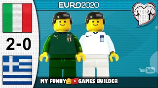 Italy vs Greece 2 0 EURO 2020 Qualifiers 12 10 2019 All Goals Highlights Lego Football Film