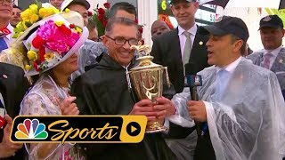 2018 Kentucky Derby trophy given to Justify owner I Horse Racing I NBC Sports