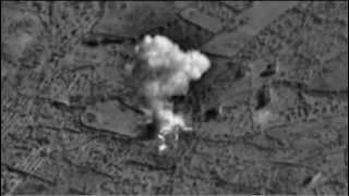 Видео попадания морских крылатых ракет «Калибр» в террористов