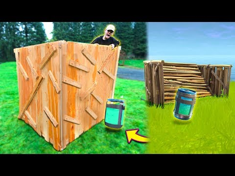 BUILDING A FORTNITE BASE IN REAL LIFE! (Fortnite In Real Life Challenge!) | David Vlas