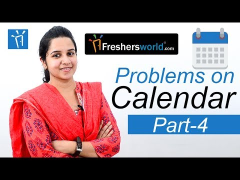 Aptitude Made Easy - Problems on Calendar -4, Basics and Methods, Shortcuts, Time and Date