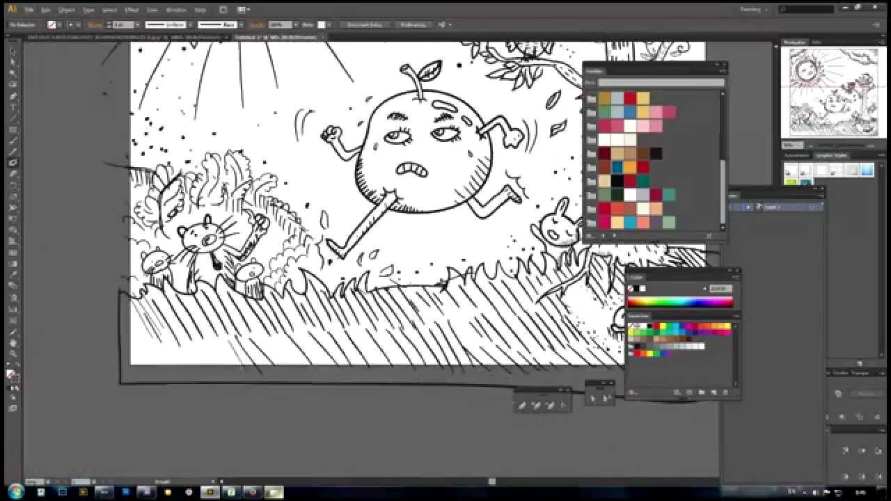 Illustrator Speed Drawing By Pen Mouse Genius