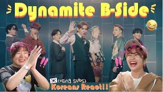 BTS (방탄소년단) 'Dynamite' Official MV (B-side) reaction 리액션 (Koreans react+Eng sub) #BTS  #Dynamite