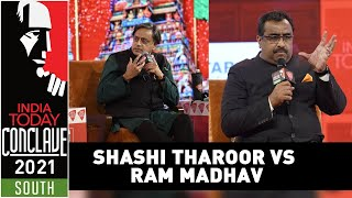 Shashi Tharoor vs Ram Madhav Face Off Over Idea Of New India, Free Speech, Dissent  | Conclave South