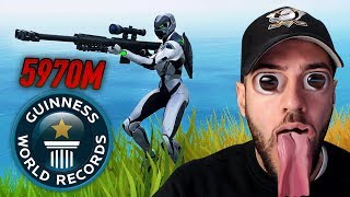 Reaktion auf 5970 METER WELTREKORD SCHUSS in Fortnite Battle Royale 🔥🔥