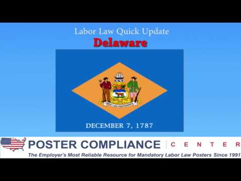 Delaware Labor Law Poster Update