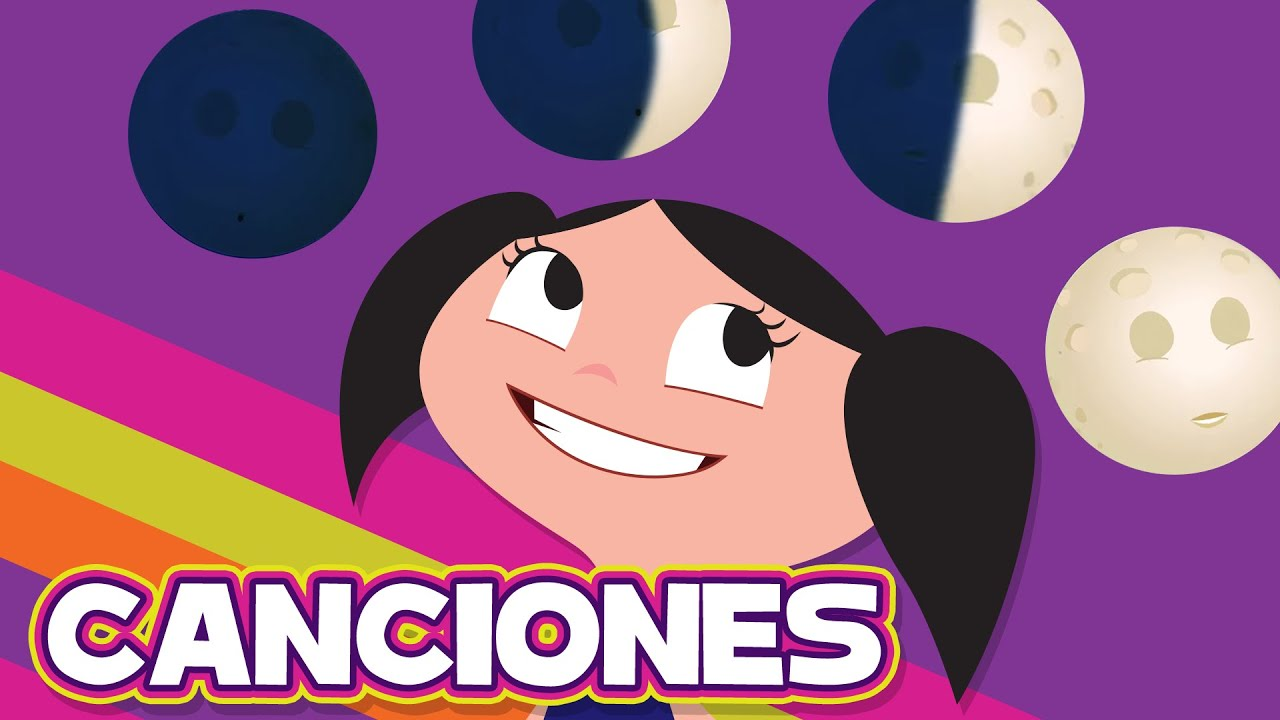 🟠 CUATRO LUNAS PARA LUNA 🌑🌒🌓🌕 - Canciones infantiles l El Mundo de Luna!
