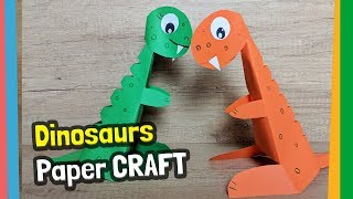How to make funny paper dinosaurs with kids