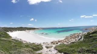 Einsamer Strand am Bay of Fires in Tasmanien | Virtual Reality (VR) /360°-Video