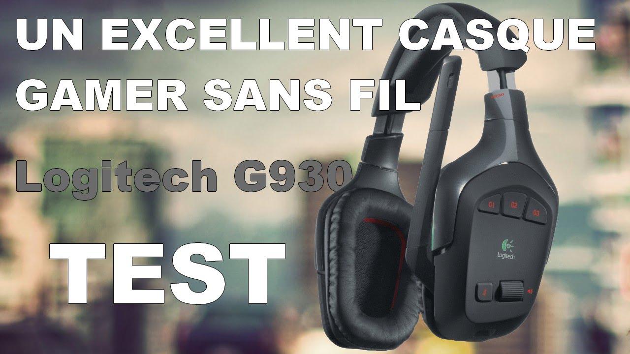 logitech g930 un excellent casque gamer sans fil test youtube