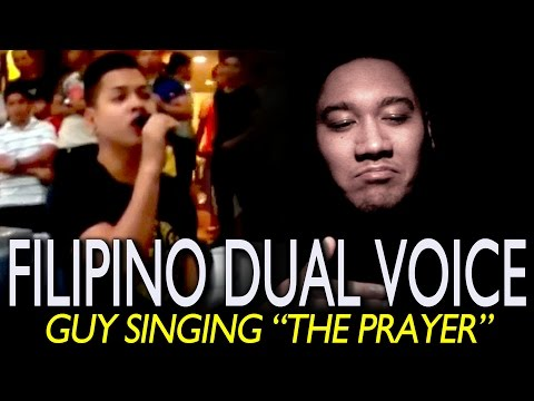"Filipino DUAL VOICE Guy Singing ""THE PRAYER"" (Super Incredible Performance) REACTION!!!"