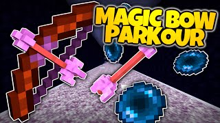 Minecraft | MAGIC BOW PARKOUR CHALLENGE! | Use Arrows To Teleport! (Minecraft Parkour Mini Game)