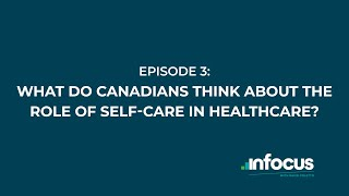What do Canadians think about the role of self-care in healthcare?