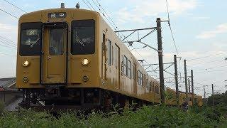 【4K】JR福塩線 普通列車105系電車 オカF-02編成+オカF-03編成