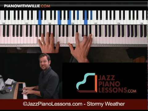 Total Beginner Jazz Piano Lesson: 2-5-1 chords on ...