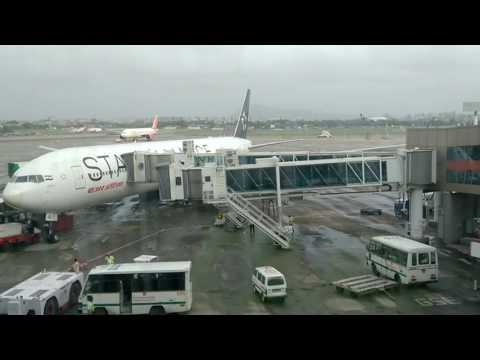 Star Alliance Air India plane in Mumbai Airport