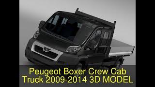 3D Model of Peugeot Boxer Crew Cab Truck 2009-2014 Review