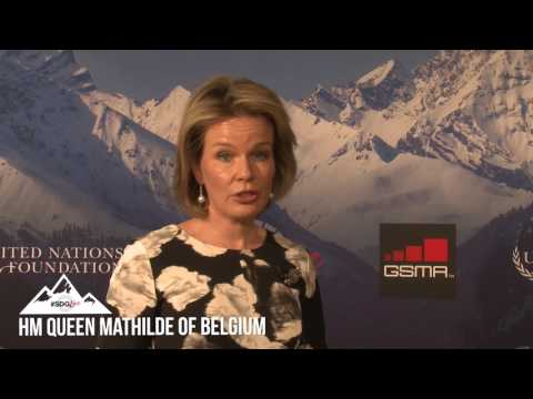 An #SDGLive discussion with HM Queen Mathilde of Belgium