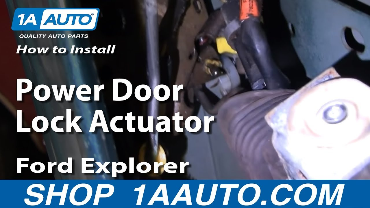 how to install replace power door lock actuator ford explorer lincoln mercury 88 03. Black Bedroom Furniture Sets. Home Design Ideas