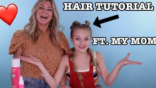 bubble braid hair tutorial ft. my mom!!! // Pressley Hosbach