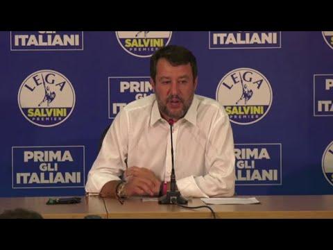 """Regionali, Salvini: """"Pensavo qualcosa di più in Puglia, ma siamo 15 a 5 per noi"""""""