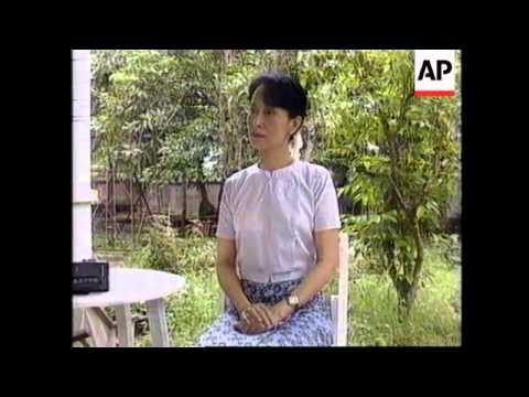 BURMA: OPPOSITION LEADER AUNG SAN SUU KYI DEMOCRACY SPEECH