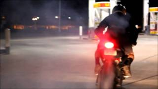 burnouts buell 1125r rolling burnout how to wmv