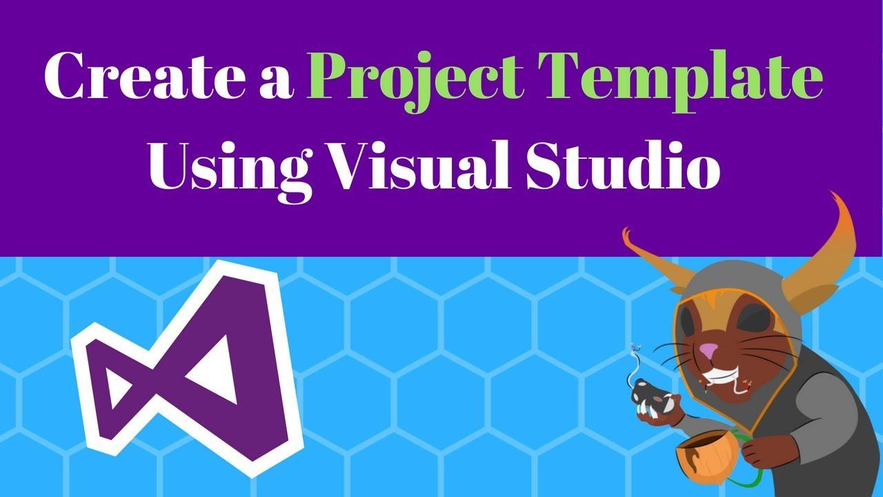 create a project template in visual studio