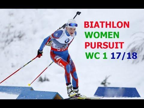 BIATHLON WOMEN PURSUIT 03.12.2017 World Cup 1 Oestersund (Sweden)