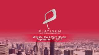 Weekly Real Estate Investment News - Week of September 5 2016