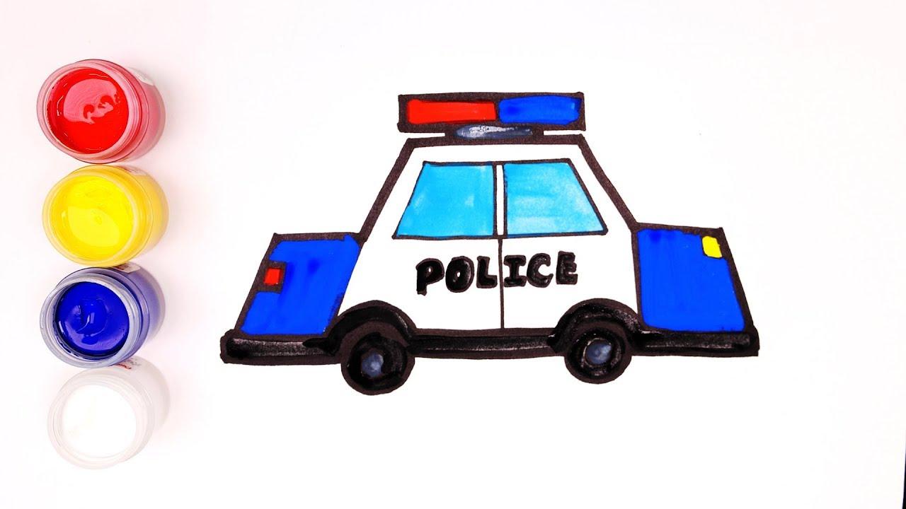 輪子轉啊轉!有巴士 警車 消防車|兒童著色(車車)|哈囉球球 - YouTube