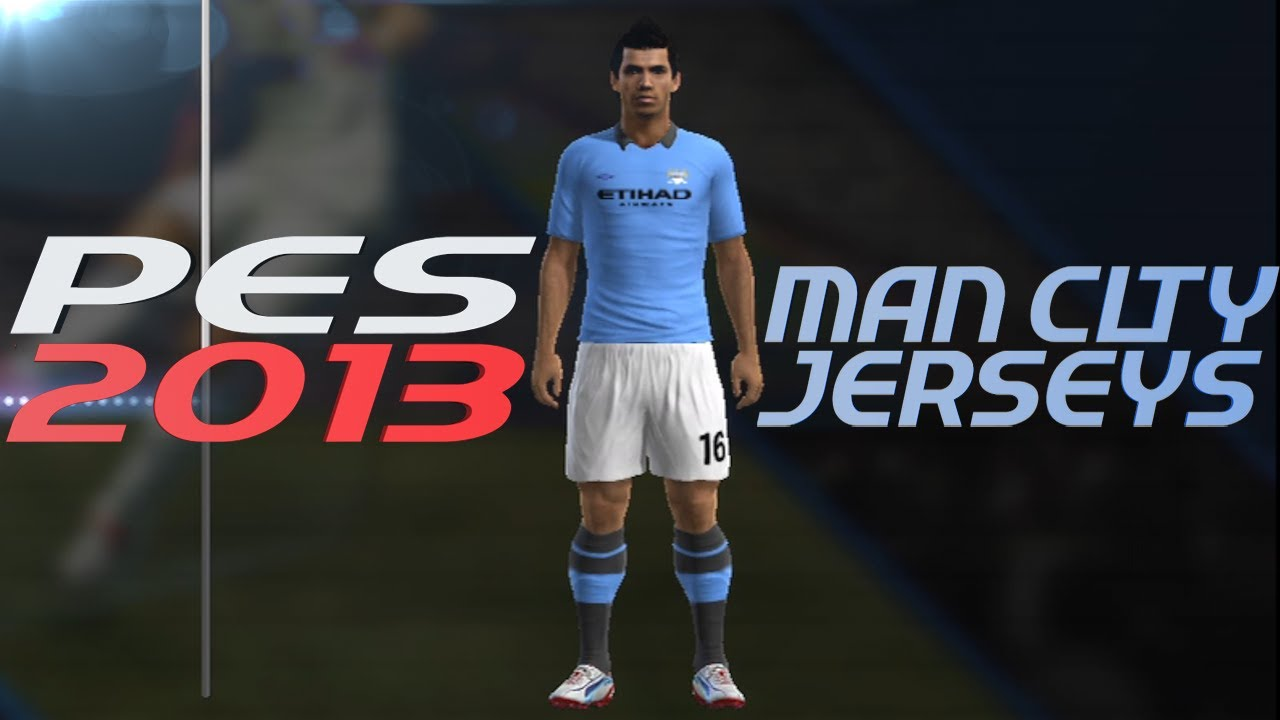 2cfba94b18d PES 2013 How to Create Manchester City Kit Home + Away Jerseys - YouTube