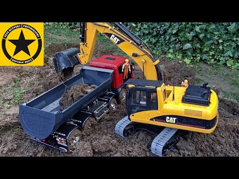 ✅CHILDREN BRUDER EXCAVATOR Toys MAGOM RC Vehicles Heavy MUD BATTLE