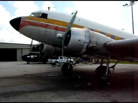 C-47, Atlantic Air Cargo, N705GB, Starting the Left Engine