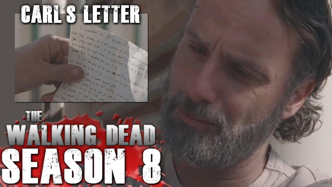 The Walking Dead Season 8   Carl's Letter to Rick Revealed!   YouTube