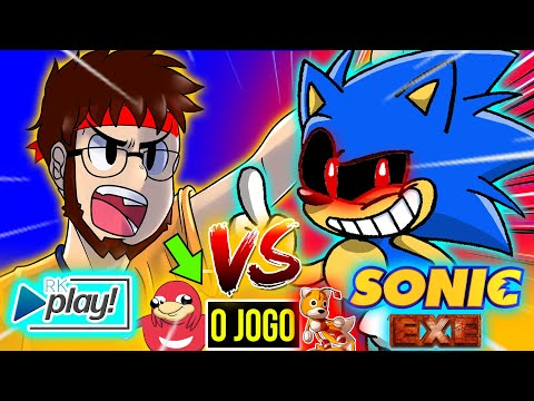 VIREI Um VIDEO GAME 😈| RK Play Vs SONIC EXE O JOGO