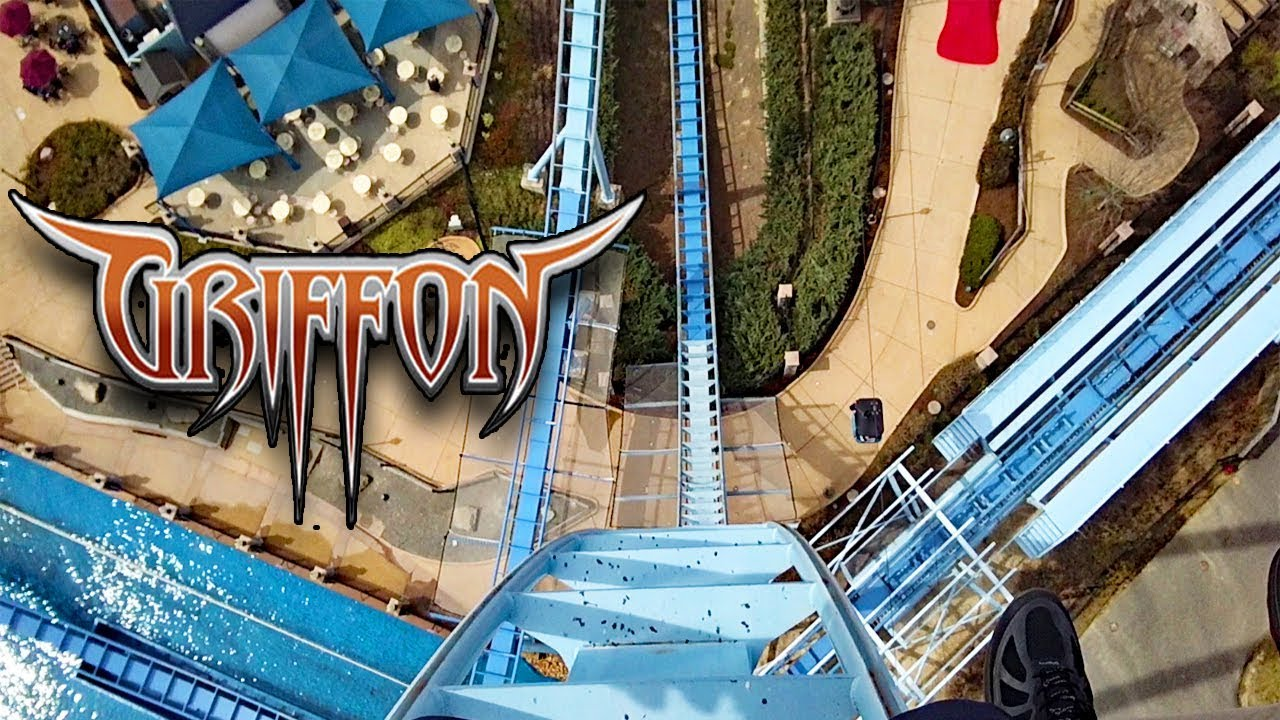 Griffon HD Front Seat On Ride POV U0026 Review, Bu0026M Dive Coaster At Busch  Gardens Williamsburg