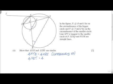 GCE O-Level A-Maths: Plane Geometry Question (Complete)