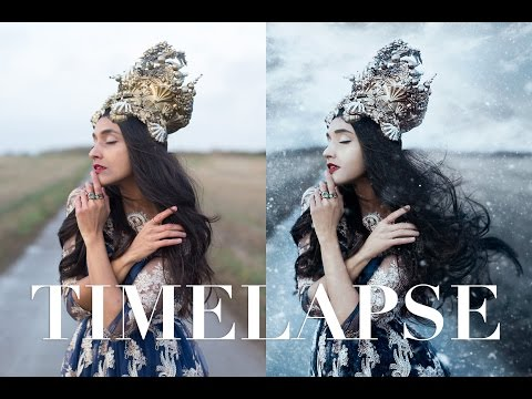 Photoshop Timelapse: A Snowy Self-Portrait by Bella Kotak