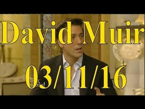 David Muir interview Live! With Kelly and Michael 03/11/16