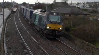 DRS 68001 passing Signal at Danger on 4A13 Grangemouth to Aberdeen