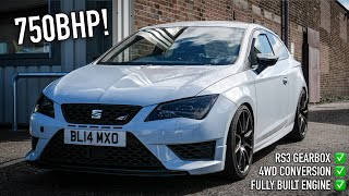 750BHP 4 WHEEL DRIVE CONVERTED! VRS Fully Built A ONE-OFF RS3 Seat Leon Cupra