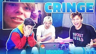 Reacting to our Oldest Cringiest Videos ft. Jesser, Mopi * EXPOSED*