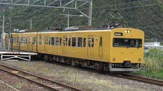 【4K】JR伯備線 普通列車115系電車 オカG-02編成 豪渓駅発車