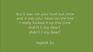 Repeat youtube video little lion man lyrics